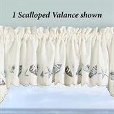 Edgewater Scalloped Valance 58 x12
