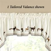 Pinesdale Tailored Valance Light Cream 58 x 12