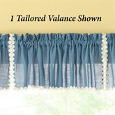 Clairborne Semi Sheer Tailored Valance 58 x 12