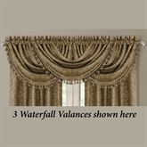 Scarlet Tasseled Waterfall Valance 52 x 19