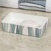 Tidelines Soap Dish White