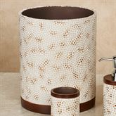 Mini Mosaic Wastebasket Multi Warm