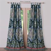 Cleo Tab Top Curtain Pair Midnight Blue 84 x 84