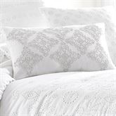 Lucy Embroidered Pillow White Rectangle