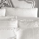 Bianco Piped Sham White European