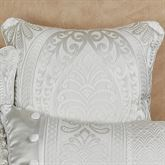 Bianco Piped Pillow White 18 Square