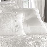 Bianco Tufted Pillow White 20 Square