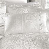 Bianco Tailored Pillow White Rectangle