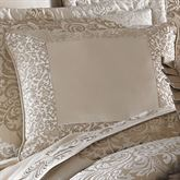 La Scala Framed Piped Pillow Fawn 18 Square
