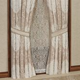 La Scala Tailored Curtain Pair Fawn 96 x 84
