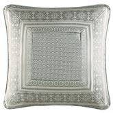 Marissa Framed Piped Pillow Aqua 20 Square