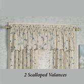 Lila Scalloped Valance 48 x 15