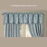 Mina Scalloped Valance Pastel Blue 52 x 19