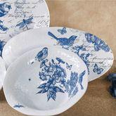 Indigo Cotton Melamine Oval Serving Platter Blue 19 x 10