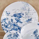 Indigo Cotton Melamine Round Serving Platter Blue 18 Round