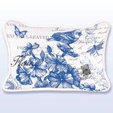 Indigo Cotton Rectangle Accent Pillow Blue 18 x 12
