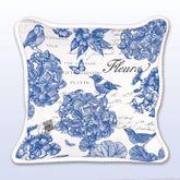 Indigo Cotton Square Accent Pillow Blue 18 Square