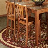 West Albany Counter Stool Pair Natural Cherry Set of Two
