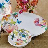 Paradise Oval Serving Platter Multi Bright 19 x 10