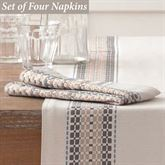 French Picnic Napkins Natural Set of Four