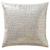 Driftwood Paillette Pillow Silver 14 Square