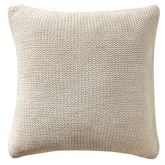 Driftwood Knitted Tailored Pillow Ecru 14 Square