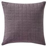 Driftwood Quilted Pillow Plum 18 Square