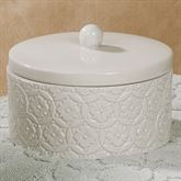Perugia Covered Jar Off White