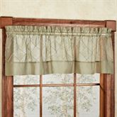 Sapphire Pintucked Sheer Valance 60 x 14