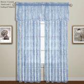 Bling Sheer Scalloped Curtain Panel