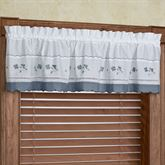 Floral Gingham Tailored Valance 60 x 14