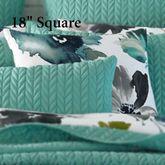 Midori Floral Tailored Pillow White 18 Square