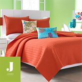 Camdyn Quilted Coverlet Vermillion