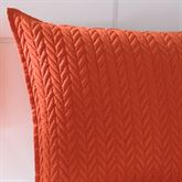 Camdyn Quilted Pillow Vermillion 20 Square