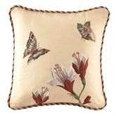 Laurel Springs Embroidered Pillow Light Almond 16 Square