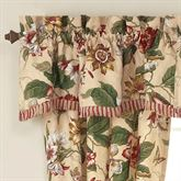 Laurel Springs Scalloped Valance Light Almond 50 x 15