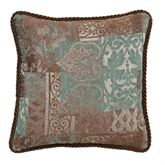 Trieste Piped Pillow Chocolate 18 Square