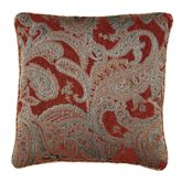Valentina Piped Pillow Claret 18 Square
