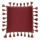 Valentina Quilted Pillow Claret 16 Square