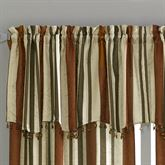 Mercury Stripe Scalloped Valance 50 x 18