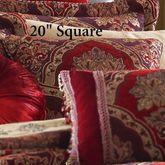 Sauvignon Piped Pillow Red 20 Square