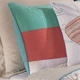 Folly Beach Quilted Sham Multi Cool Standard