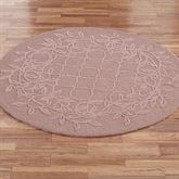 Lattice Scroll Round Rug
