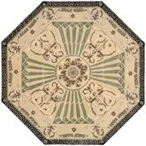 Imperial Palace Octagon Rug Beige 6 Octagon