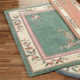 Elegant Corner Floral Rectangle Rug
