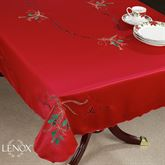 Holiday Nouveau Cutwork Tablecloth