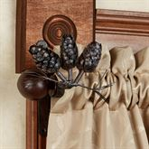 Pine Cone Curtain Rod Brown 44 to 80