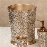 Allure Wastebasket Silver Gold