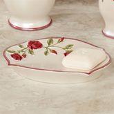 Vining Rose Soap Dish Pearl