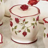 Vining Rose Covered Jar Pearl